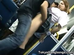 stranger copulates schoolgirl in public!
