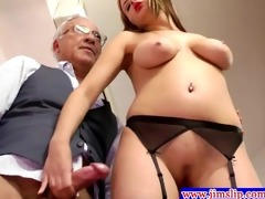 golden-haired euro chicks anal joy with old dude