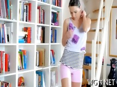 cutie is undressing on livecam