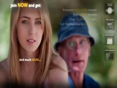 juvenile blond hottie bonks hers old man boyfriend