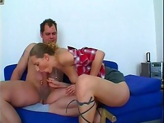 lascivious playgirl gives excited daddy threesome