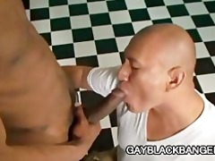latino muscled dilf permeated by large black