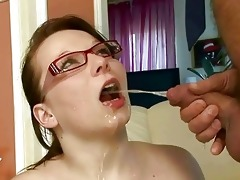 grand-dad fucking and pissing on nasty breasty gal