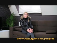fakeagent blondie desires to be porn star