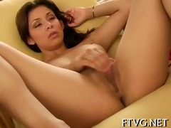 beauty plays with 10 dildos