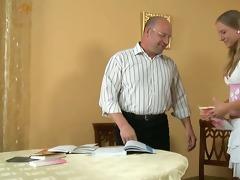 ejaculation lesson from elderly teacher
