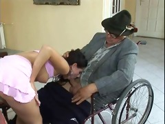 disabled oldman fucking legal age teenager