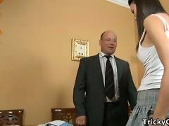 lewd teacher copulates coeds.