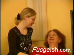 mature lesbian shows a younger angel how to make