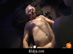 cheerful sex-alloween night for grandpa
