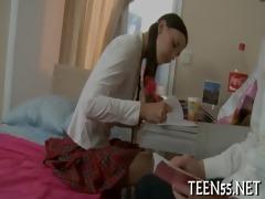 legal age teenager explores fleshly pleasures