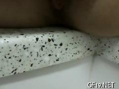 3 moist strumpets share a rod