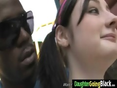 youthful daughter with admirable wazoo drilled by