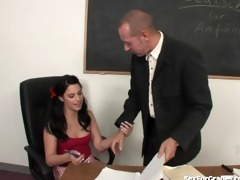 lustful schoolgirl sucks and bonks her teacher
