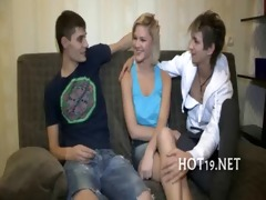 wonderful gangbang with legal age teenager gal