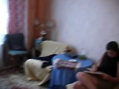 russian mature boy (08) and girl (70) - homemade