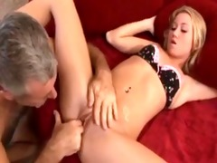 golden-haired bonks her daddy
