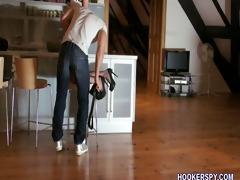 fucking model at hidden cam