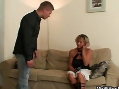 hawt mother-in-law sucks and rides his sexually