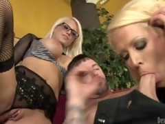 excited mama and her breasty daughter satisfying