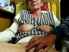old man masturbates his wife with fingers