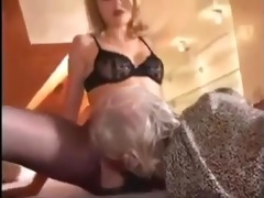 blond nicole and aged chap