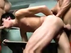 two sexy smooth hung hunk prisoners facefuck then