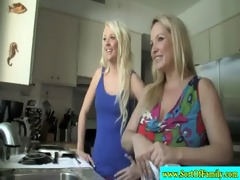 golden-haired step mamma and step daughter engulf