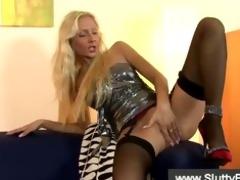 british blond masturbates