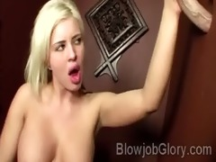 large boobed blondie sucks her priests rod thru