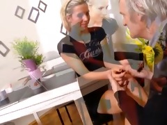 old dude fingering and fucking cute czech teenies