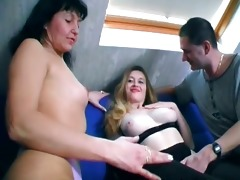 trio old milf and her younger ally part11