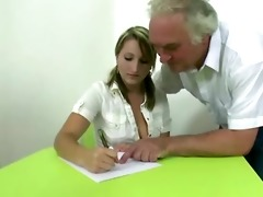 golden-haired czech student passes exam being