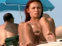 spying on hawt undressed latin chick at the beach