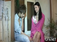 she is plays with big shlong of guy
