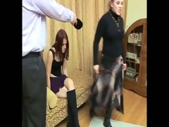 daughter+girlfriend are spanked 16