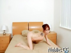 playgirl plays with overweight cock