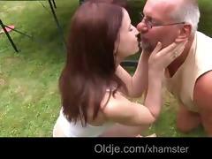 pervert old geezer bonks 83 youthful redhead