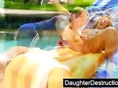 cute daughter screwed by bawdy stud