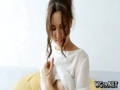 angel plays with big vibrator