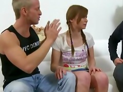 old and juvenile studs fuck a cute redhead legal