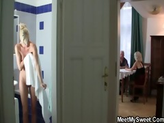 gf in three-some with his bfs parents