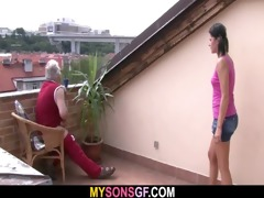 slutty daddy bangs his son&#1114 s gf