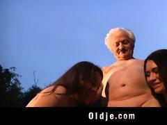 older man gustavo bangs with naughty sweethearts