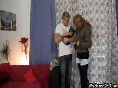 whore cheating her bf with his younger brother