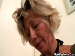 sexy mother-in-law sucks and rides his sexually