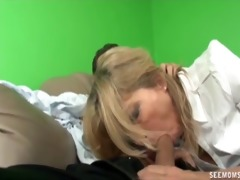 mother and not her daughter engulf a boner