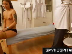 old doctor videtaping young beauties during pussy