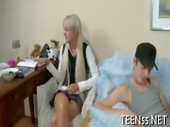 breasty legal age teenager receives a hard ride